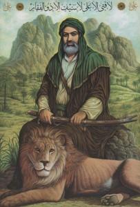 Kalif Ali som blev mördad av en Kharijit år 661.